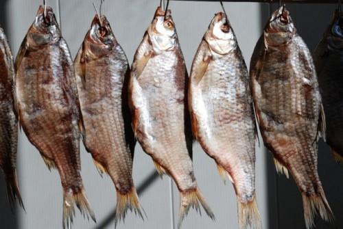 При употреблении вяленой рыбы особо опасно есть икру и брюшки