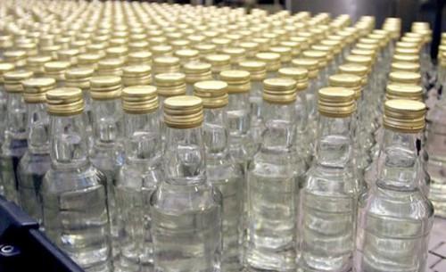 Водка в бутылках