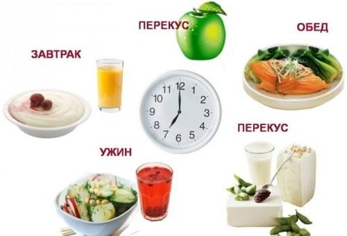 Рацион питания на день