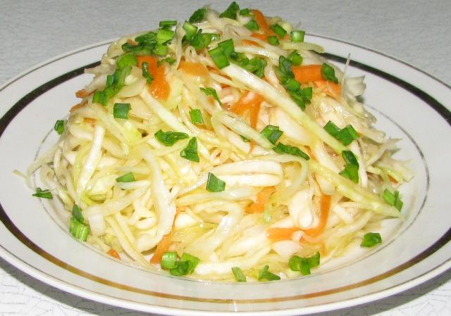 Рецепты с салат из свежей капусты