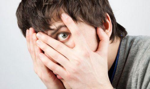 Страх в глазах мужчины