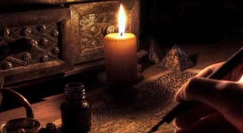Писать при свече