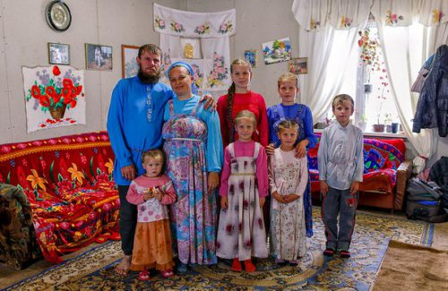 Большая семья на фото